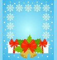 new year and christmas background card blue vector image