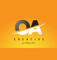 oa o a letter modern logo design with yellow vector image vector image