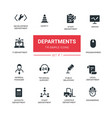 office departments - line design icons and vector image