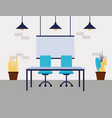 office work space vector image