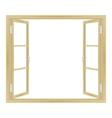 open wooden window vector image vector image