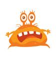 orange bacteria cartoon character icon vector image vector image