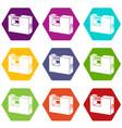 padlock icons set 9 vector image vector image