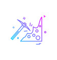 pickaxe icon design vector image