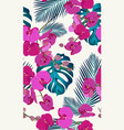 pink orchid floral seamless pattern with tropical vector image vector image