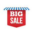 red banner big sale store design vector image vector image