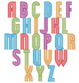 Retro style stripe trendy font vector image vector image