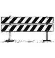 road detour closed block sign drawing vector image