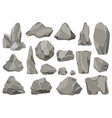 rocks and stones single or piled for damage vector image vector image