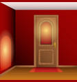 room interior with door vector image vector image