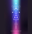 sacred geometry sign alchemy linear art vector image vector image