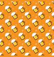 seamless beer pattern beer mugs and glasses vector image