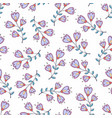 seamless pattern with stylized flowers background vector image vector image