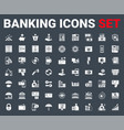 set banking icons glyph vector image