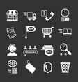Set icons of shopping and e-commerce vector image vector image