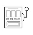 Slot machine isolated icon