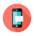 Smartphone Notification Flat Circle Icon vector image