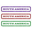 south america watermark stamp vector image vector image