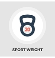 Sport weight icon flat vector image