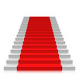 stair carpet on a white background vector image vector image
