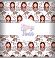 story time books background pattern vector image