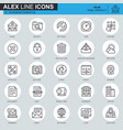 thin line business essential icons set vector image