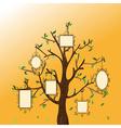 Vintage memories tree vector image vector image
