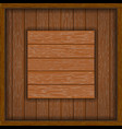 wooden frame with board vector image vector image