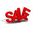 3d inscription sale vector image