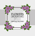 floral background decorative frame vector image