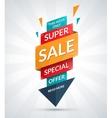 Super sale banner Discount label Shopping badge vector image