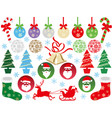a set of assorted christmas graphic elements vector image