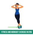 Aerobic icons RESISTANCE BAND vector image vector image
