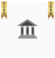 Bank flat icon vector image