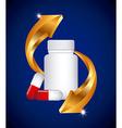 capsule vitamin vector image