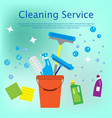 cleaning service concept flat style vector image