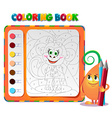 Coloring book about monkey vector image vector image