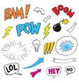 comics pop art balloons vector image vector image