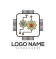 computer logo design and icon vector image vector image