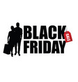 couple silhouette with black friday vector image vector image