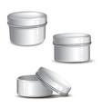 customizable cream jar kit vector image vector image