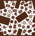 cute seamless pattern with hand drawn chocolate vector image vector image