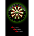 Dartboard with Dart vector image vector image