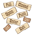 Door Signs western vector image vector image