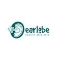 ear hearing health logo vector image