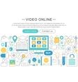 elegant thin line flat design Video online vector image vector image