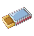 empty match box icon cartoon style vector image