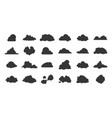 flat clouds icon black nature shadow silhouettes vector image vector image