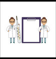 flat female doctor surgeon characters set vector image vector image