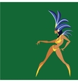 flat geometric design of dancing samba queen vector image